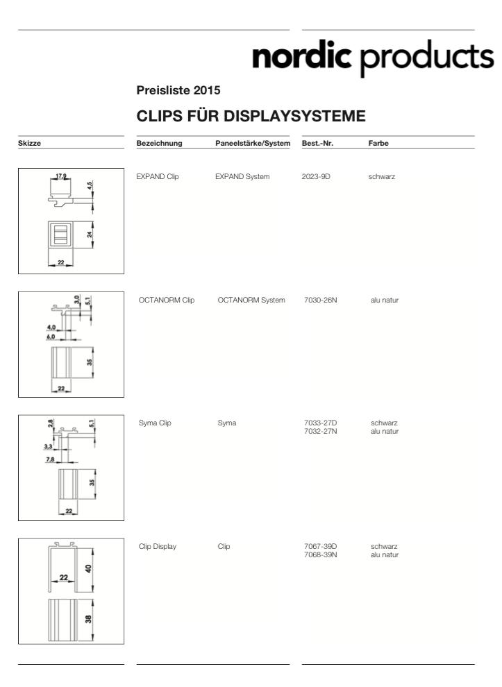 Befestigungen / Clips (PDF)
